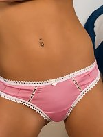 Madden Pink And White Panties